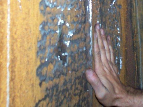 Фрагменты поверхности абсорбера без покрытия