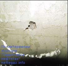 Повреждения металла внутри дефекта покрытия(«пробой»)