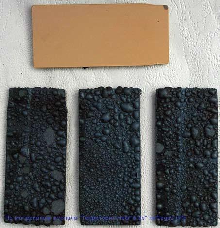 Образцы внутреннего покрытия (ТС-2000), не выдержавшие испытания в сероводородсодержащей среде
