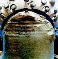Ремонт края корпуса буровых долот до наплавки корпуса