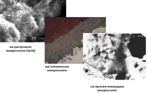 Рис.2 Микроструктура и наноструктура функциональных покрытий
