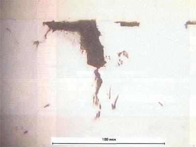 Состояние хромового покрытия стальных образцов после выдержки в пластовой воде в течение 7 суток при температуре 60 градусов по цельсию